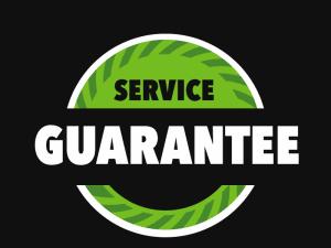 Kruse Corp Service Guarantee Badge Green